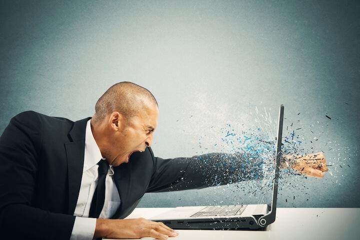 Laptop Hardwarefehler liegt vor | © panthermedia.net / alphaspirit